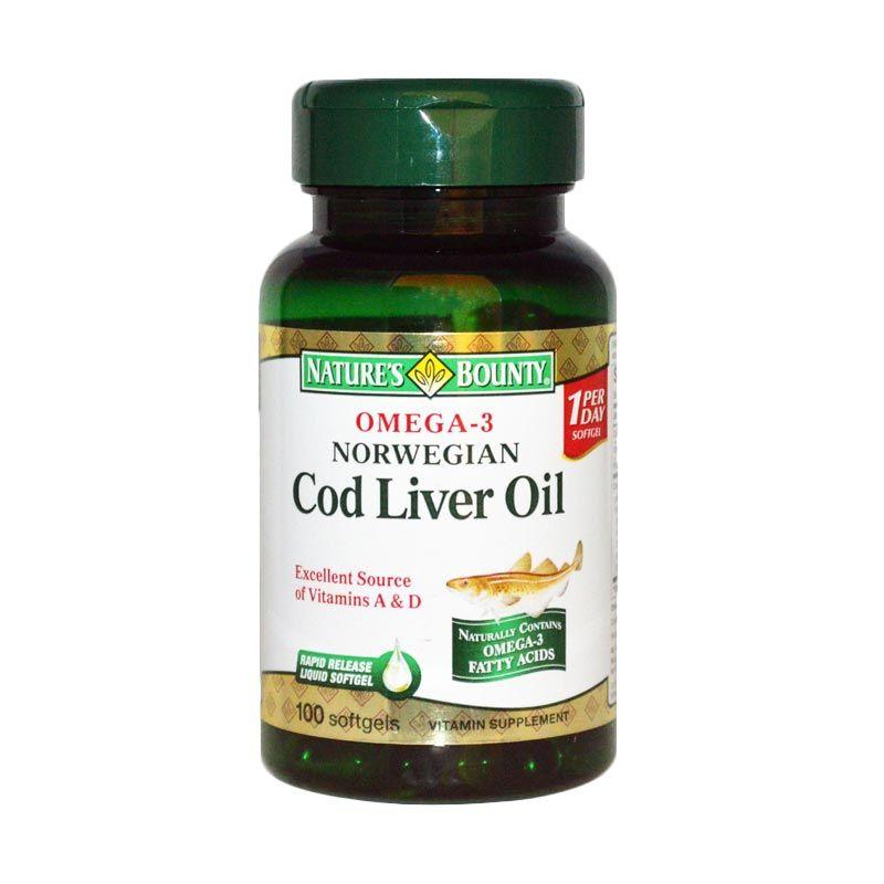 Nature's Bounty Norwegian Cod Liver Oil Multivitamin [100 Softgel]