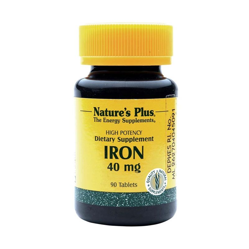 Nature's Plus Iron Suplemen Diet [40 mg/180 Tablets]