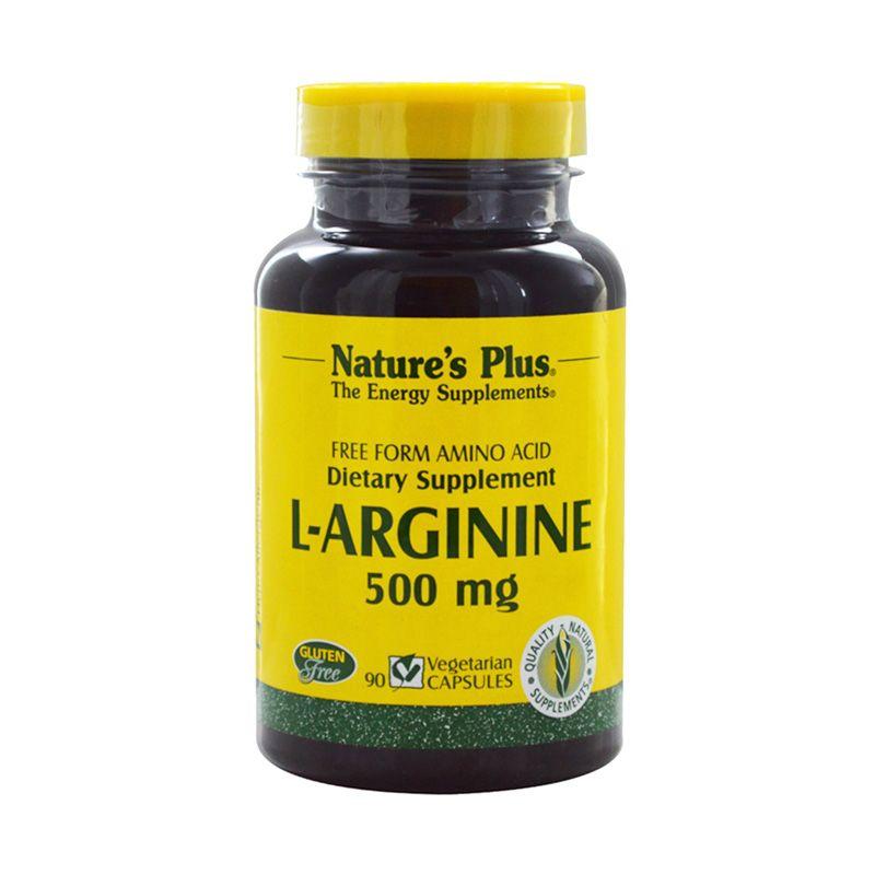 Nature's Plus L-Arginine Suplemen Diet [500 mg/90 Veggie Caps]