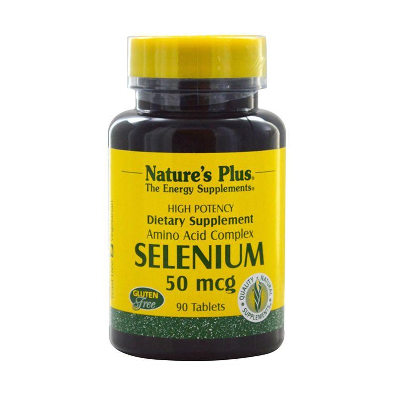 Nature's Plus Selenium Suplemen Diet [50 mcg/90 Tablets]