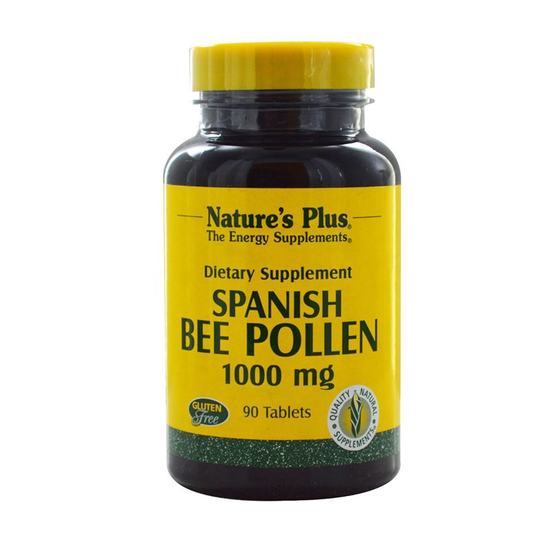 Nature's Plus Spanish Bee Pollen Suplemen Energi [1000 mg/90 Tablets]
