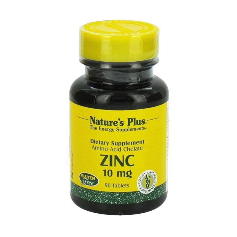 Nature's Plus Zinc Suplemen Energi [10 mg/90 Tablet]