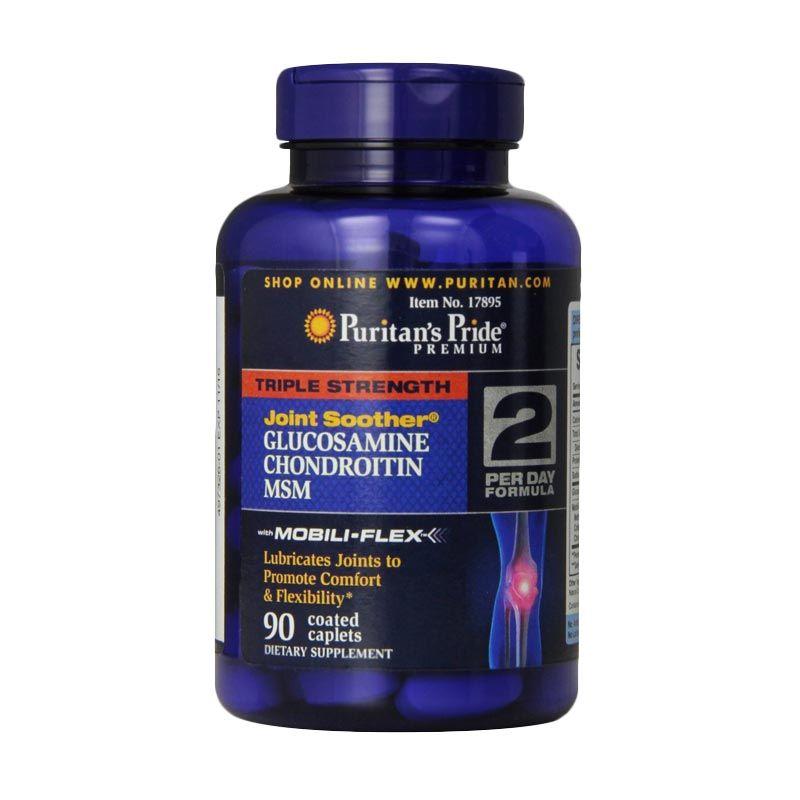 Puritan Pride Triple Strength Glucosamine Chondroitin MSM Multivitamin [90 Kapsul]