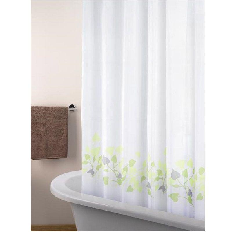 Room Decor 004 White Shower Curtain Tirai Kamar Mandi