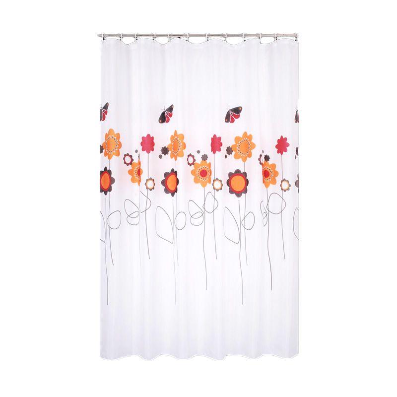 Room Decor 018 Putih Shower Curtain Tirai Kamar Mandi