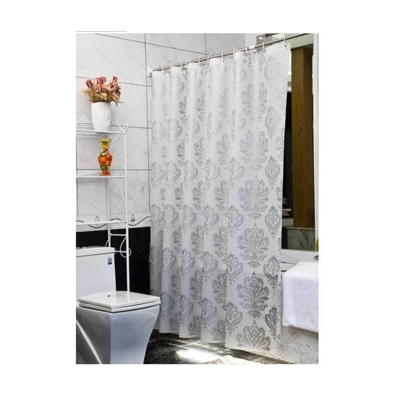 Room Decor Premium Shower Curtain SL9005 Putih Tirai Shower