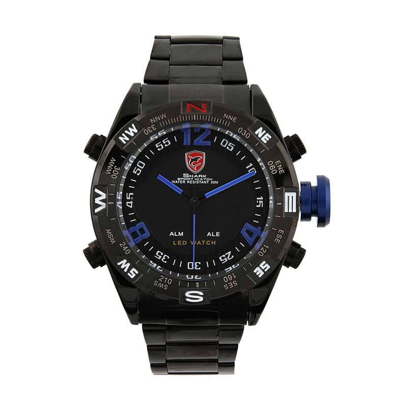 Shark Analog with LED Watch Black Blue SH100
