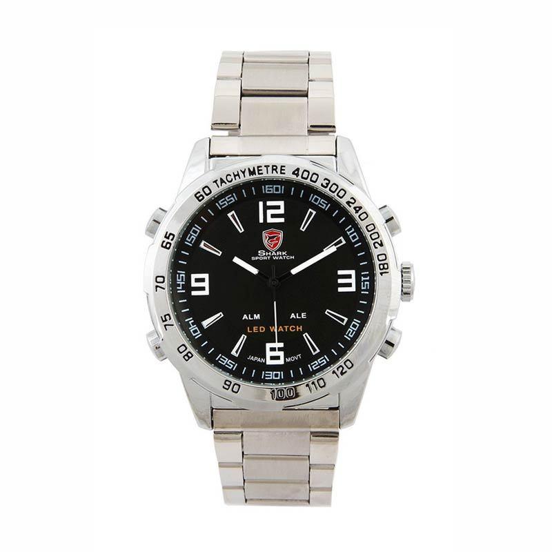 SHARK Jam Tangan Pria SH005 Silver Black