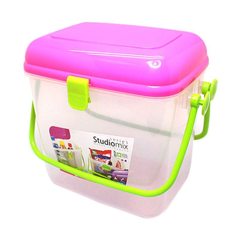 Arniss MP-0466 Studio Mix Pink Kotak Penyimpanan Serbaguna
