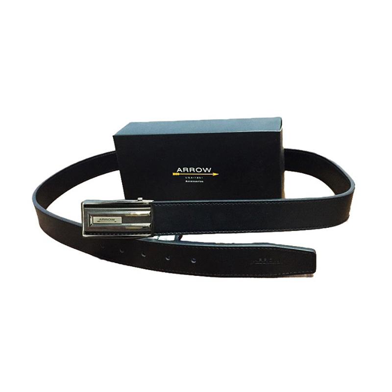 Arrow BP-AR-2124FCSA12-B3118 Leather Belt Ikat Pinggang Pria - Black