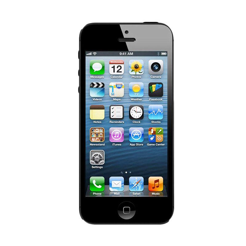 Diskon Apple iPhone 5 32 GB Hitam Smartphone [Refurbished]