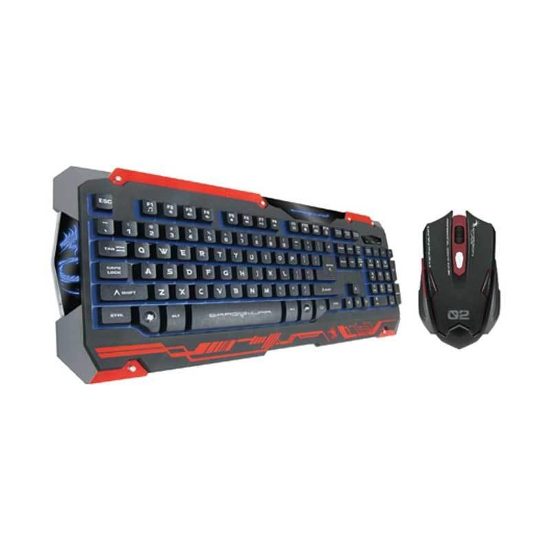 Dragon War Sencaic Black Gaming Keyboard & Mouse
