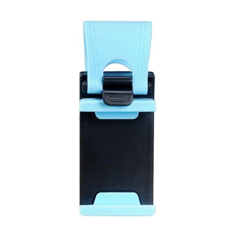 Car Steering Wheel Phone Socket Biru Smartphone Car Holder