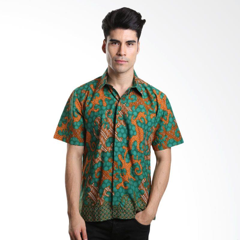 Asana Lereng Batik Prima Cotton Green Batik Pria