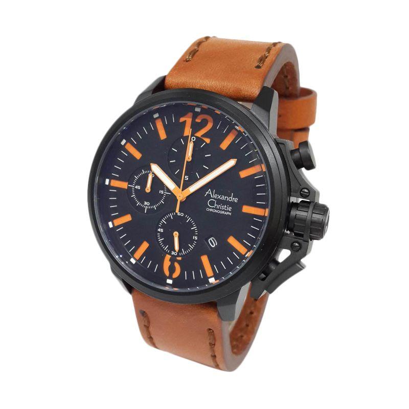 Alexandre Christie 6374MCLIPBAOR Matte Black Jam tangan Pria