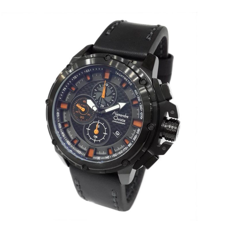 Alexandre Christie 6390MCLIPBAOR Black Jam tangan Pria