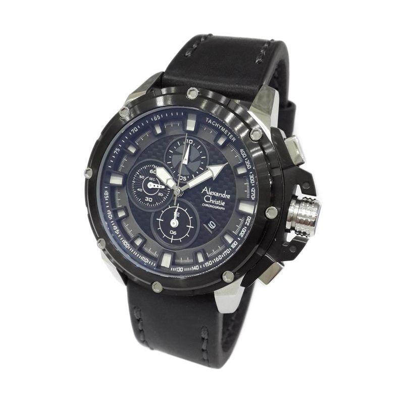 Alexandre Christie 6390MCLTBBA Black Jam tangan Pria