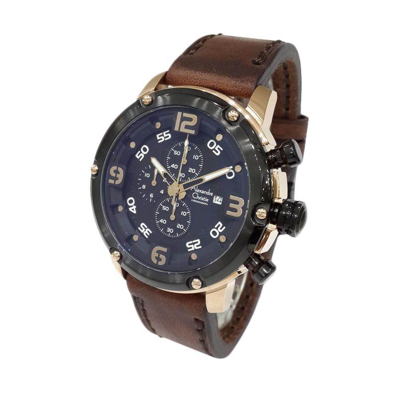 Alexandre Christie 6398MCLBRBA Rose Gold Jam tangan Pria