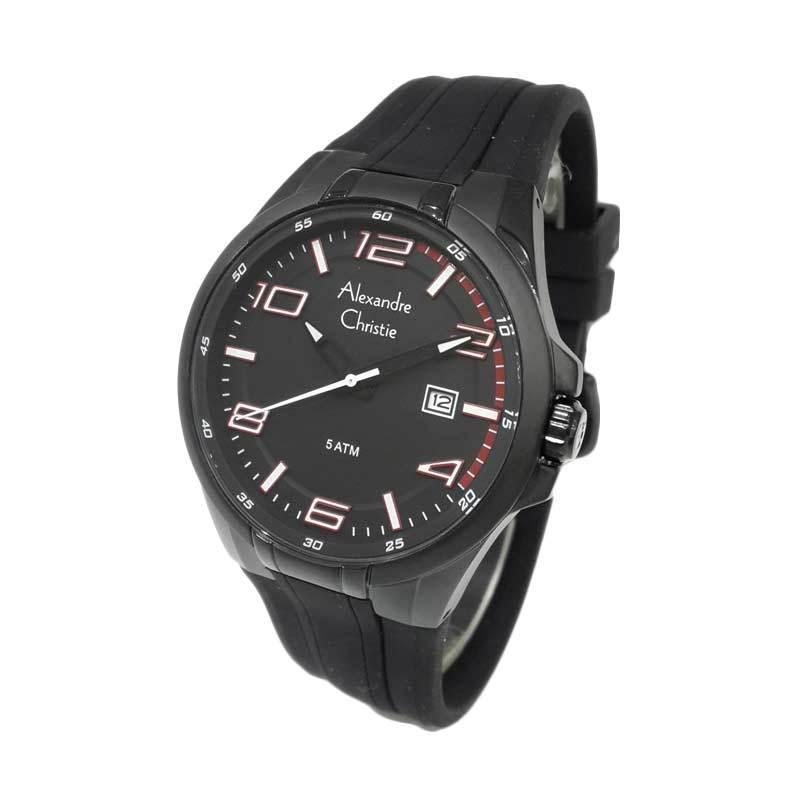 Alexandre Christie 6404MDRIPBARE Black Jam tangan Pria