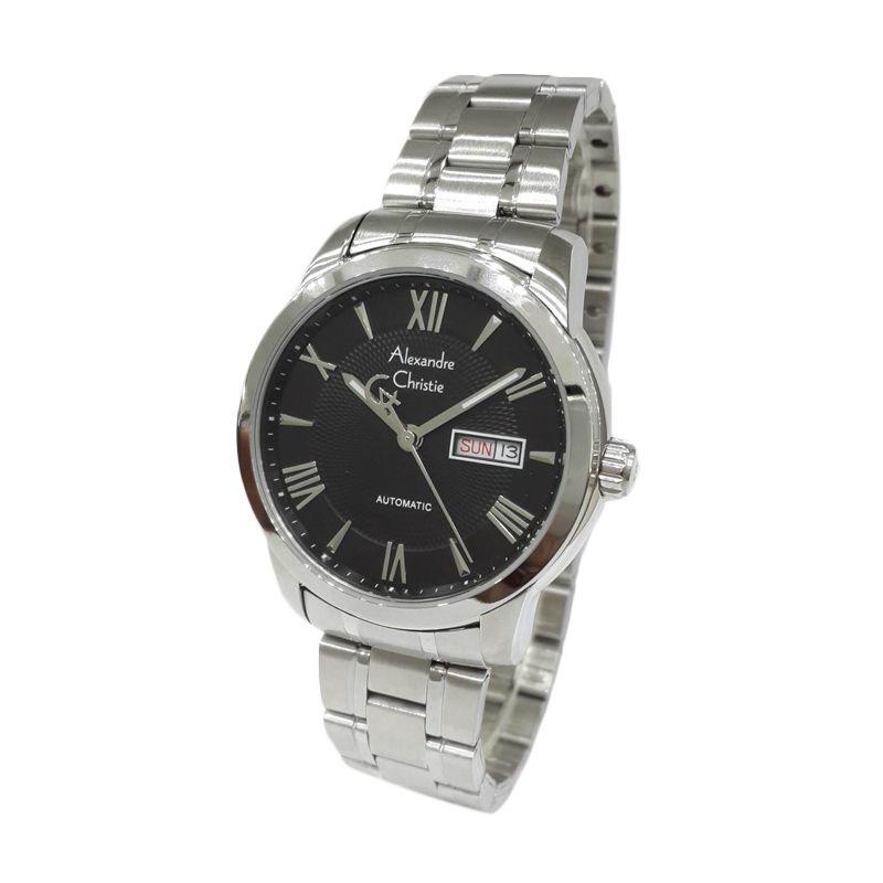 Alexandre Christie Automatic 3028MABSSBA Silver Jam Tangan Pria