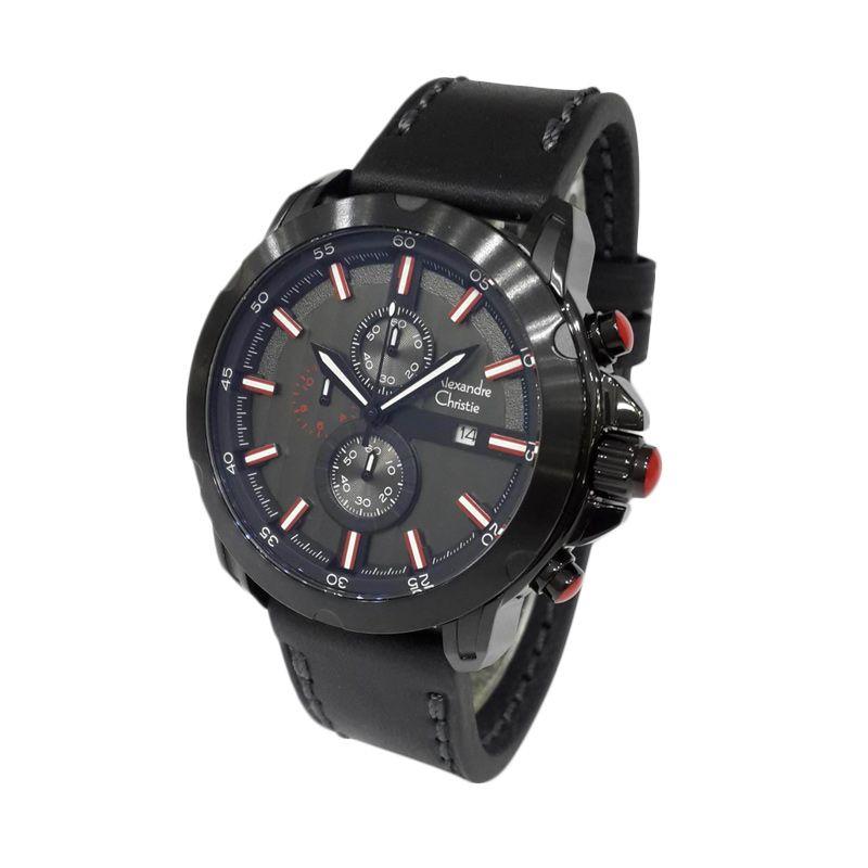 Alexandre Christie Automatic 6397MCLIPBARE Black Jam tangan Pria