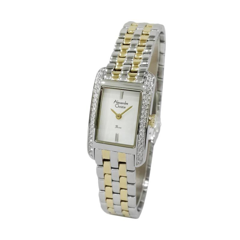 Alexandre Christie Passion 2444LHBTGMSDR Jam Tangan Wanita (Fashion Watch) (Gold-Silver)