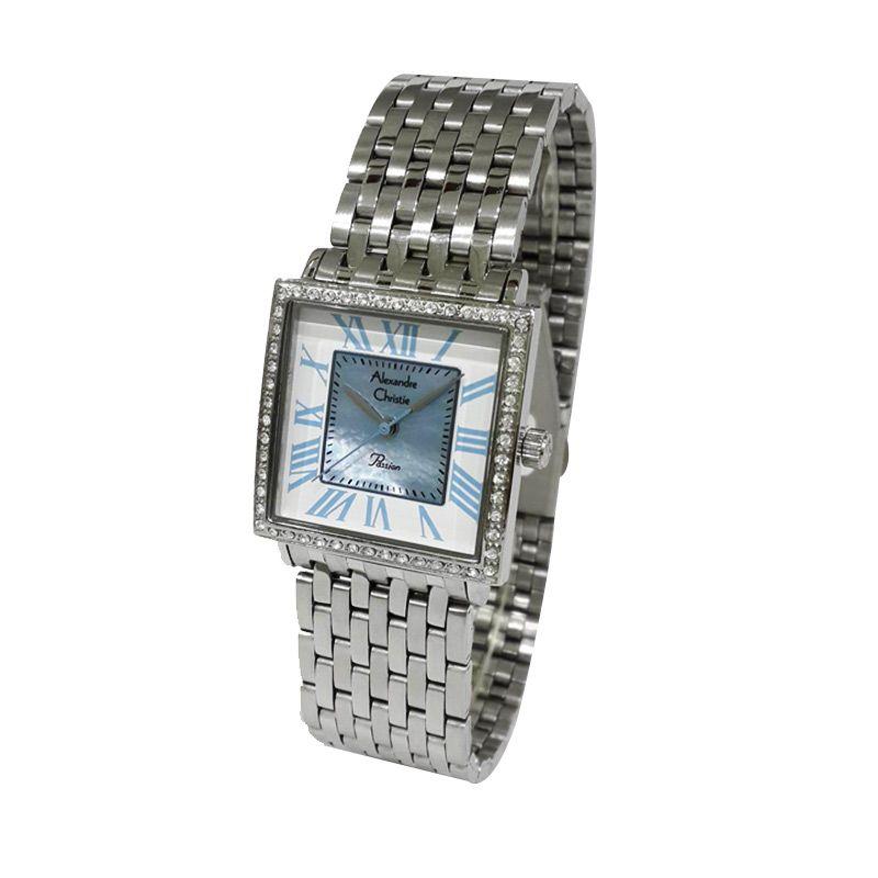 Alexandre Christie Passion 2502LHBSSBU Silver Jam Tangan Wanita