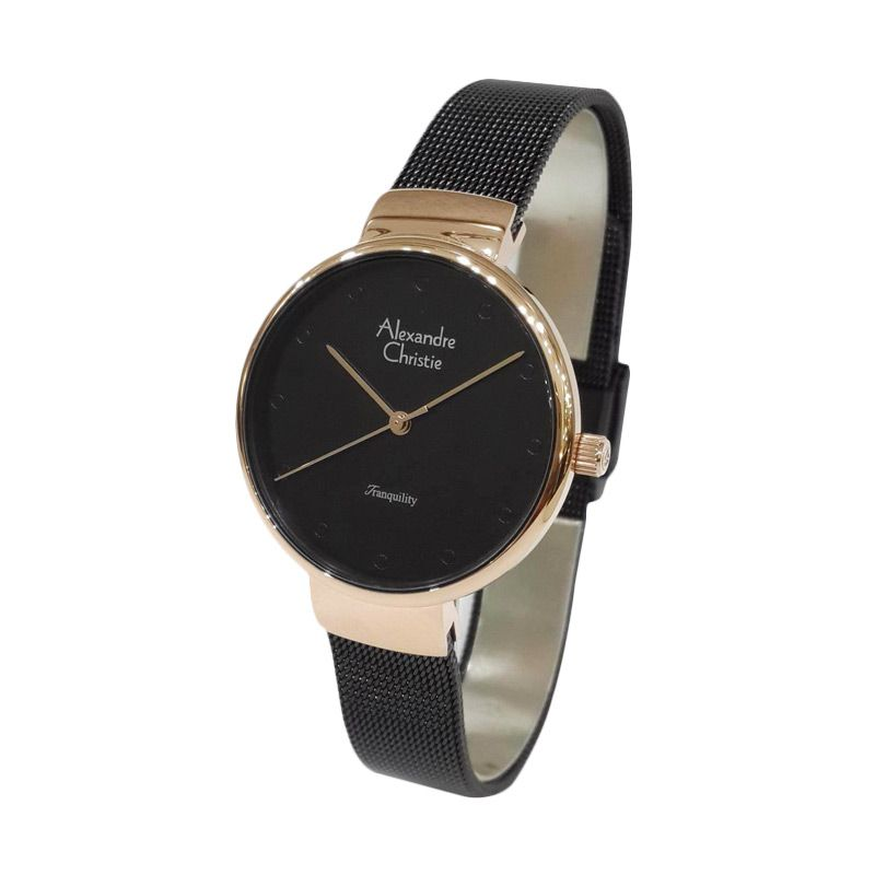 Alexandre Christie Tranqulity 2509LHBBRBA Black Rose Gold Jam Tangan Wanita