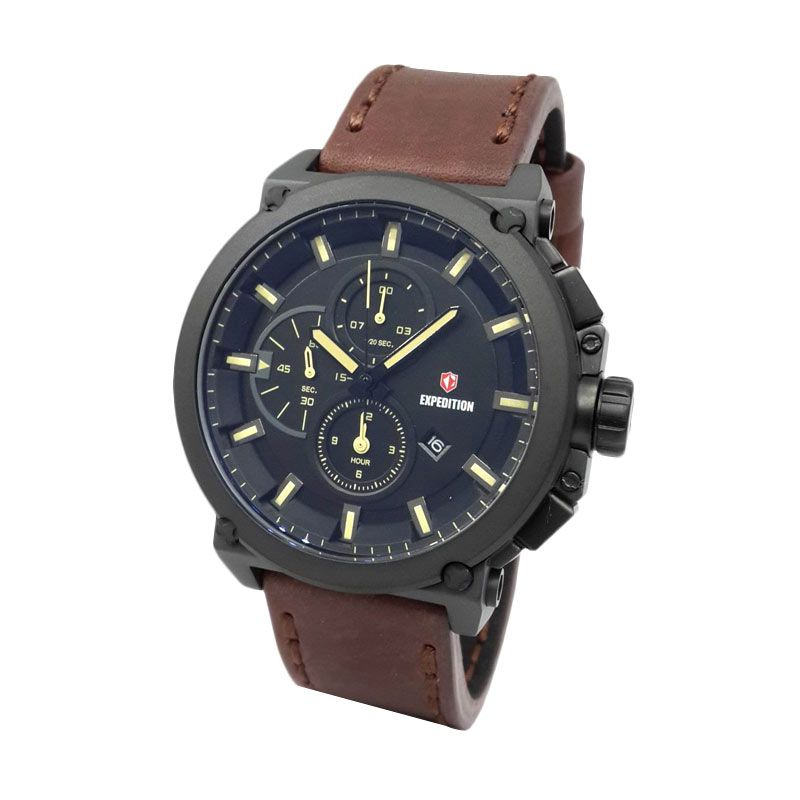 Expedition 6612MCLIPBAIVBO Mat Black Jam Tangan Pria