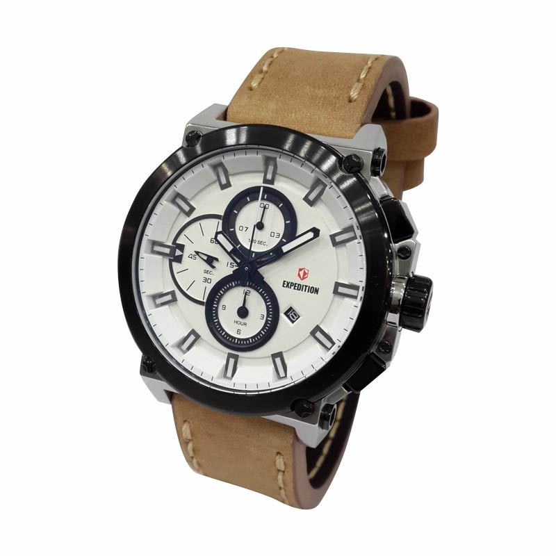 Expedition 6612MCLTBSL Jam Tangan Pria (Analog) (Silver)