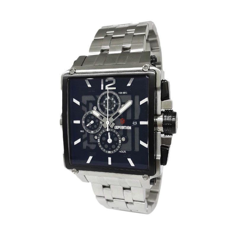 Expedition 6618MCBTBBASL Silver Jam Tangan Pria