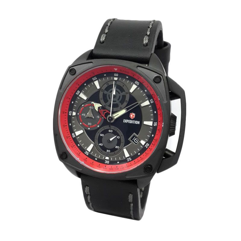 Expedition 6646MCLIPBARE Black IP Jam Tangan Pria