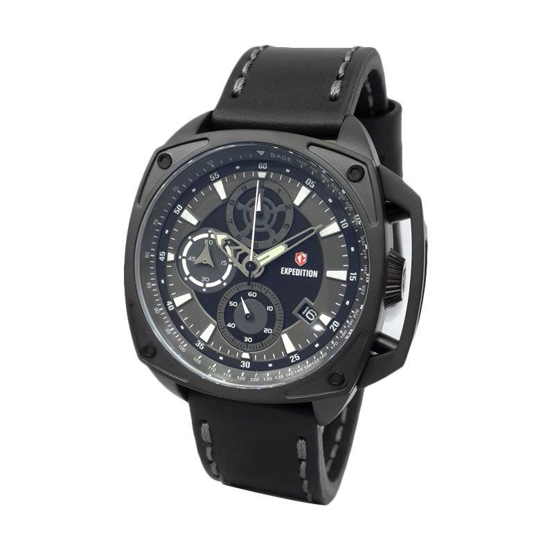 Expedition 6646MCLIPBASL Black IP Jam Tangan Pria
