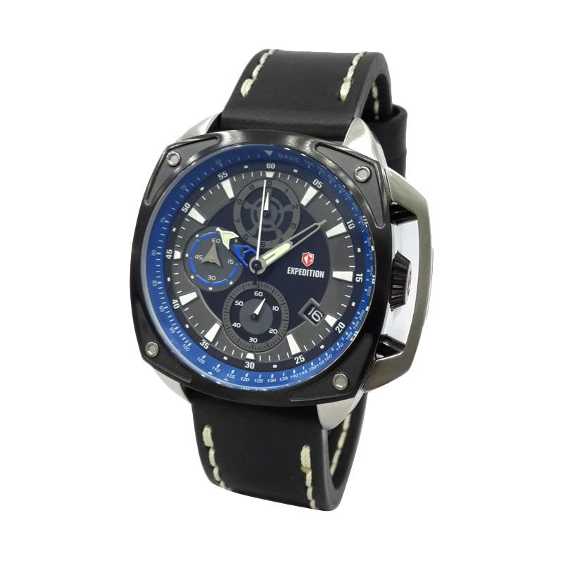 Expedition 6646MCLTBBABU Black IP Jam Tangan Pria