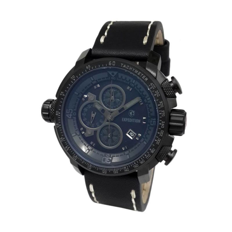 Expedition 6647MCLIPBA Black Jam Tangan Pria