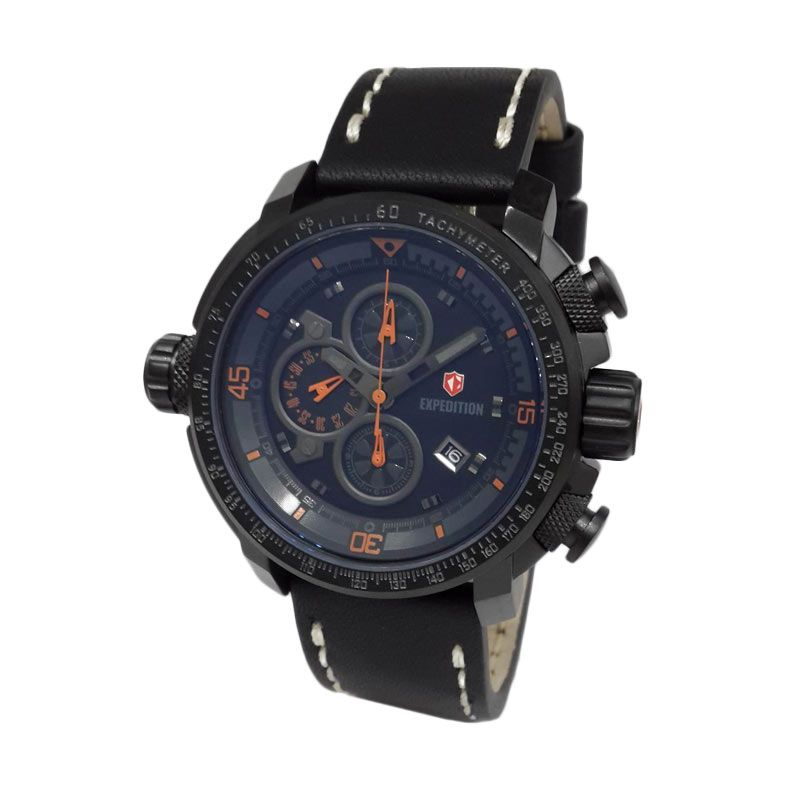 Expedition 6647MCLIPBAOR Black Jam Tangan Pria