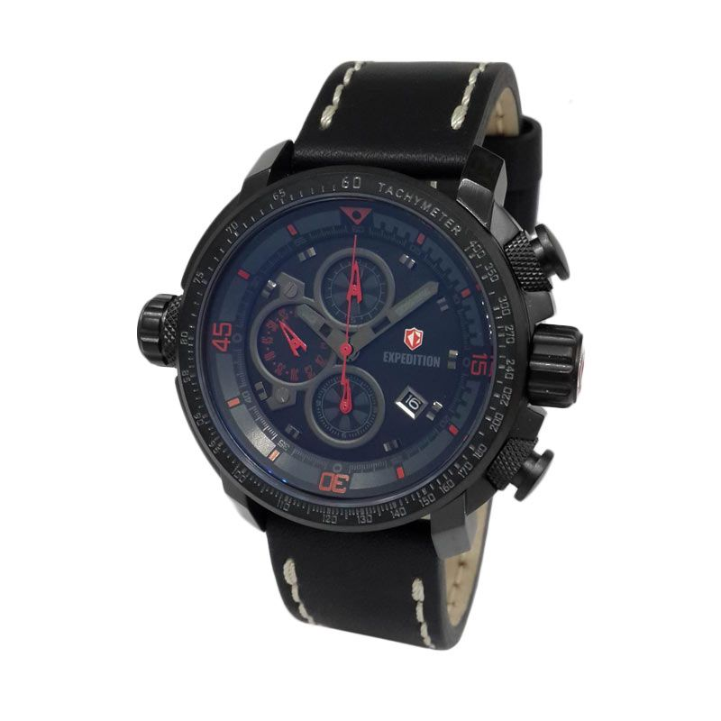 Expedition 6647MCLIPBARE Black Jam Tangan Pria