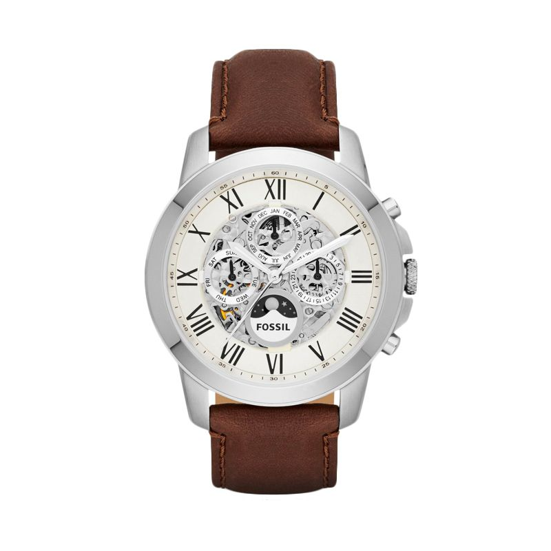 Fossil Grant Automatic ME3027 Silver Jam Tangan Pria