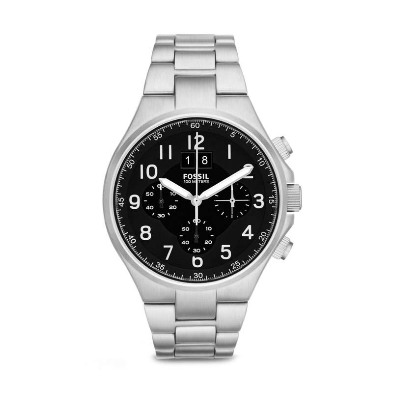Fossil Qualifier CH2902 Jam Tangan Pria - Silver
