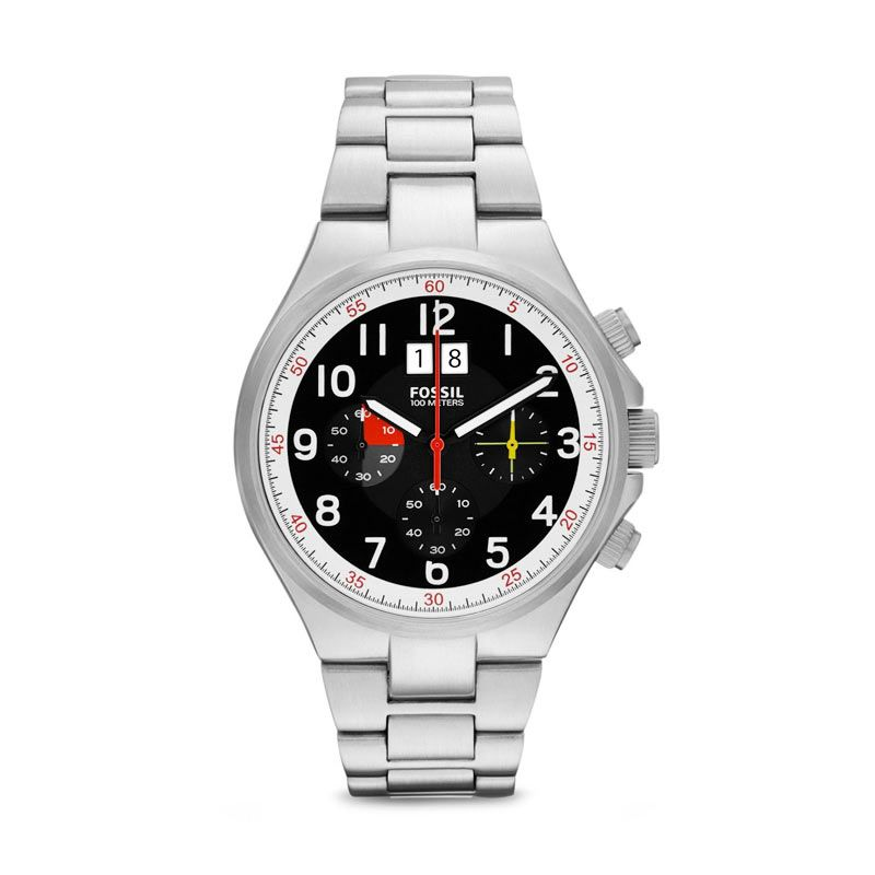 Fossil Jam Tangan Pria Qualifier CH2909
