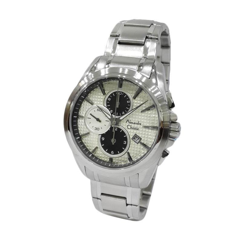 Jam Tangan Pria Alexandre Christie 6366MCBSSSL Silver