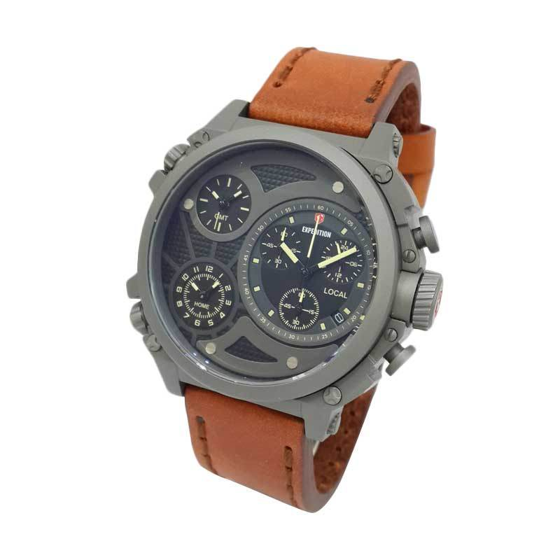 Jam Tangan Pria Expedition Triple Time Zone 6626MCLTTBAYL