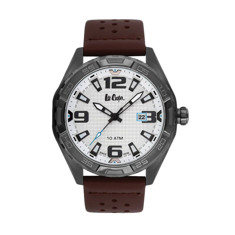 Lee Cooper Arsenal LC-33G-B Black Jam Tangan Pria