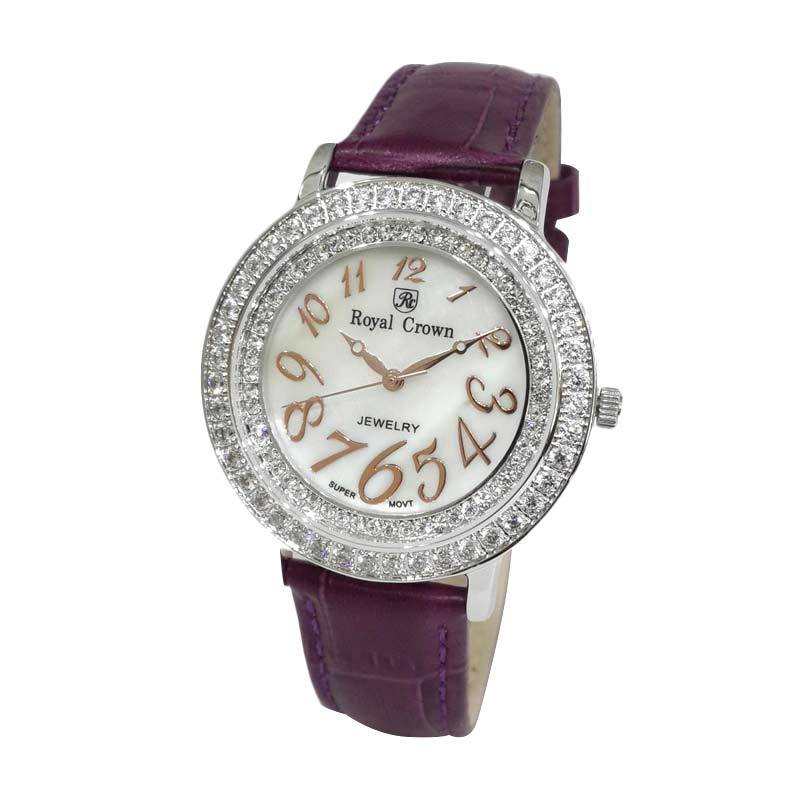 Royal Crown 3632SSSLPU Jam Tangan Wanita