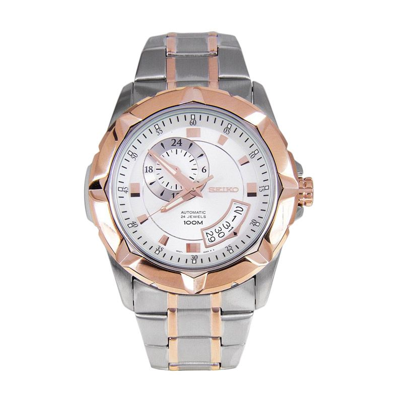 Seiko Lord SSA224K1 Silver Rose Gold Jam tangan Pria