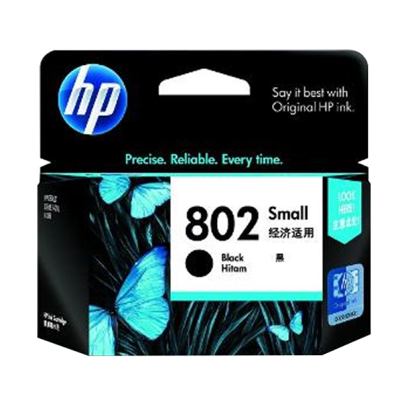 HP Ink Cartridges 802 Black Tinta Printer