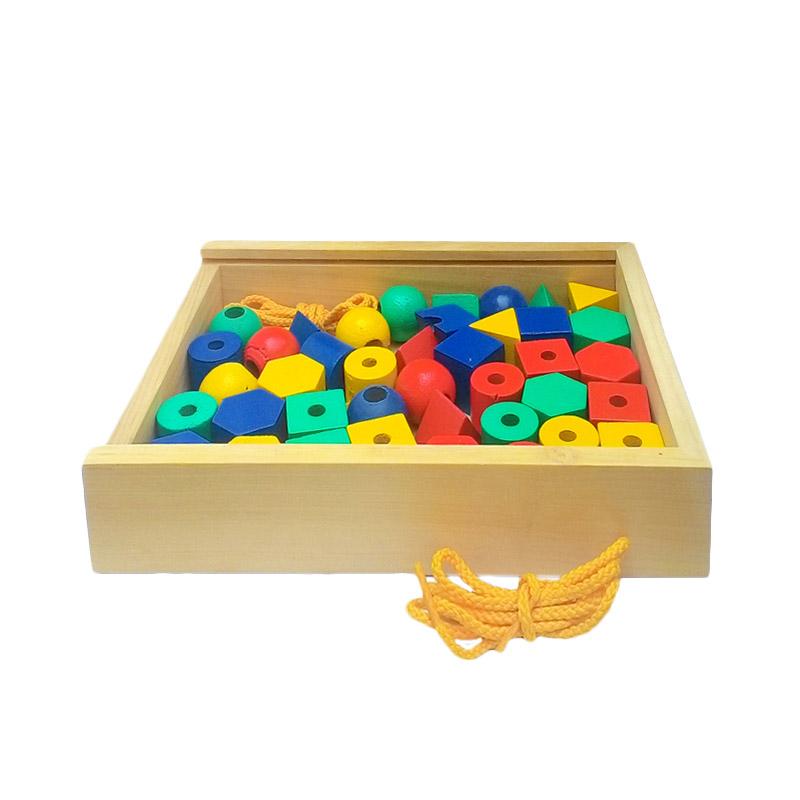 Atham Toys Edukatif Ronche Geo 40 Mainan Kayu
