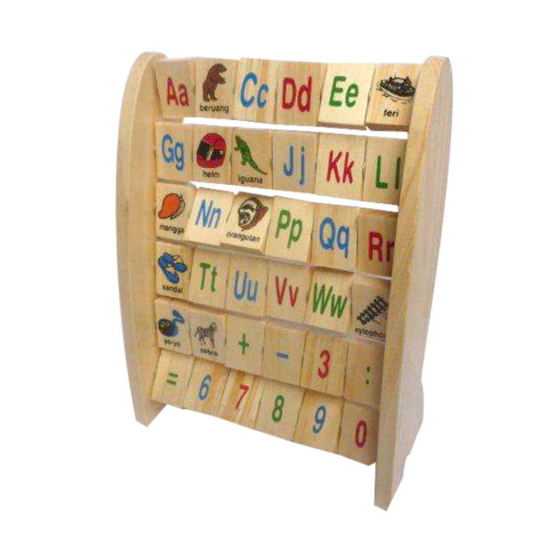 Atham Toys Mainan Kayu Edukatif Alphabet Berdiri Indonesia