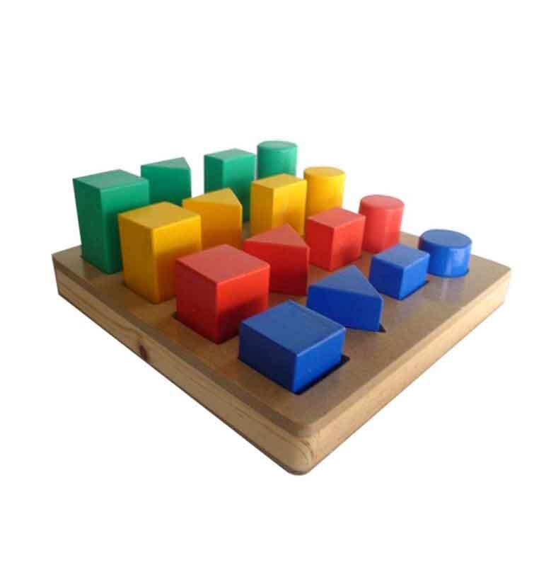 Atham Toys Geo Bangun Bertingkat Mainan Kayu Edukatif