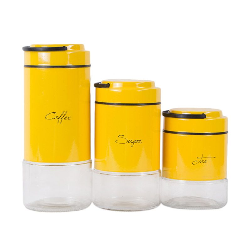 Atria Fennel Canister Kuning Set Toples